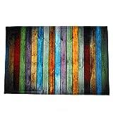 Igemy Regenbogen Farbesszimmer Teppich Schlafzimmer Rechteck Boden Matte 40 * 60CM (Bunt)