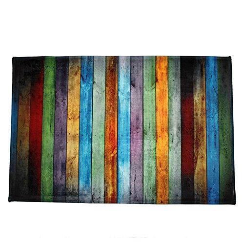 Igemy Regenbogen Farbesszimmer Teppich Schlafzimmer Rechteck Boden Matte 40 * 60CM (Bunt) -