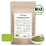 Fit4Taste Bio Moringa Pulver   Rohkostqualität   Superfood   Vegan   Ohne Gentechnik   350 g