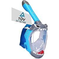 Khroom® TÜV geprüfte CO2 sichere Schnorchelmaske Vollmaske Modell 2021 -Tauchmaske für Kinder | Vollgesichtsmaske zum…