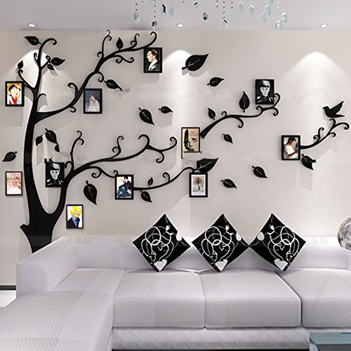 comparatif alicemall stickers arbre cadre photo stickers muraux salon arbre sticker mural 3d. Black Bedroom Furniture Sets. Home Design Ideas