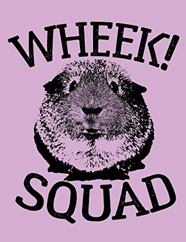Wheek Squad: Cute Guinea Pig Lilac Purple College Ruled Lined Paper Composition Notebook