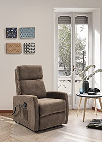 Automatic Electric Recliner Fabric Armchair Help Model / Color: Brown