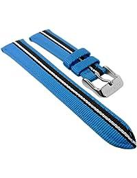 Calypso Ersatzband für Kinderuhr K5707- alle Modelle - Uhrenarmband 17mm, Nylon-/Leder, Variante:02