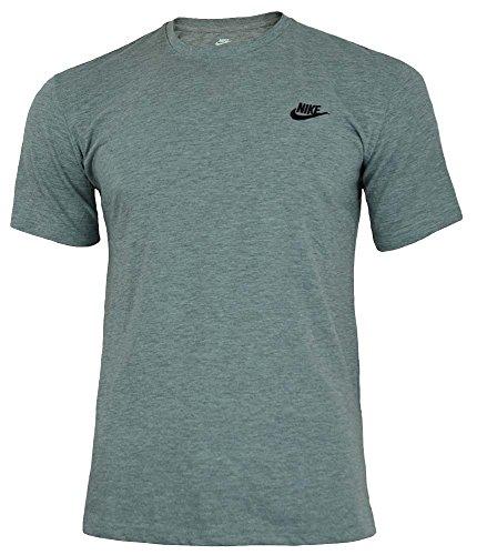 Nike core tee maglietta uomo camicia cotone allenamento sportiva grigio, dimensione:m