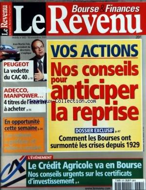 revenu-le-no-645-du-16-11-2001-vos-actions-nos-conseils-pour-anticiper-la-reprise-peugeot-la-vedette