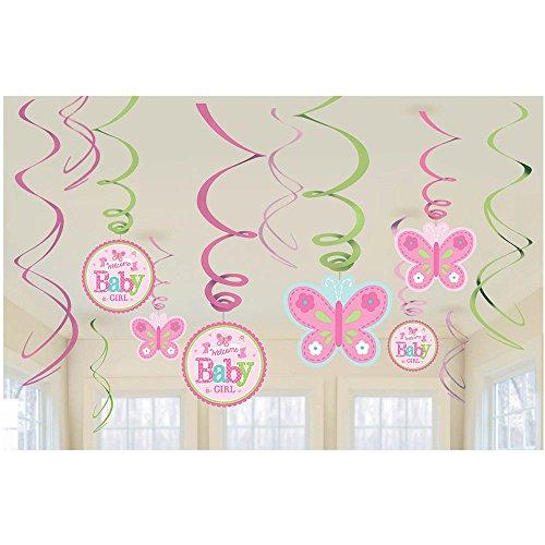 me Baby Girl Swirl Dekorationen (Welcome-party Dekorationen)