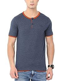 Urban Nomad Blue Henley Neck T-Shirt