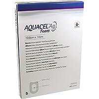 AQUACEL Ag Foam adhäsiv Ferse 19,8x14 cm Verband 5 St Verband preisvergleich bei billige-tabletten.eu