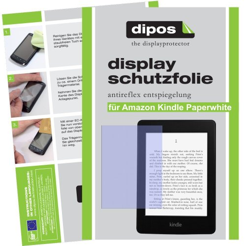 2x Dipos Antireflex Displayschutzfolie für Amazon Kindle Paperwhite