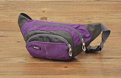 Travel Fanny Pack Taille Pack Tasche/Handys und Schlüssel Ring Violett - violett