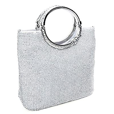 EULovelyPrice Women's Fashion Crystal Rhinestone Evening Clutches Bags Wedding Purse with Bow Fram