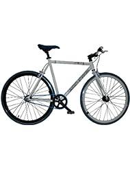 "Bicicleta FIXIE Gotty FX-40, Cuadro Fixie Acero 28"", Llantas doble pared, piñon fijo, Bielas de aluminio, tija de sillín de aluminio, color blanco"