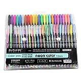 #9: Kabeer Art 48 Pc Gel Pens Set Color Gel Pens ,Glitter, Metallic , Neon Pens Set Good Gift For Coloring Kids Sketching Painting Drawing