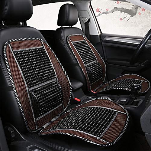 DIELIAN Auto Sitzbezug Kunststoffperle Sitzauflage mit Atmungsaktiv Gemütlich Massage Rückenstütze Für Haus Und Auto-1 Stück,Black