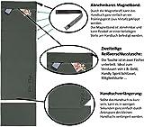 3er Set | Fitness-Handtuch mit Reißverschluss Fach + Magnetclip + extra Sporthandtuch | zum Patent angemeldetes Multifunktionshandtuch, Fit-Flip Microfaser Handtuch - 4