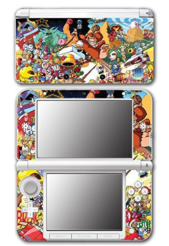 Super Smash Bros Retro Collage Donkey Kong Bomberman Megaman Kirby Video Game Vinyl Decal Skin Sticker Cover for Original Nintendo 3DS XL System by Vinyl Skin Designs