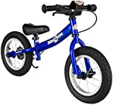 BIKESTAR® Premium Kids Safety Balance Bike for brave explorers aged from 3 years ★ 12s Sport Edition ★ Adventurous Blue