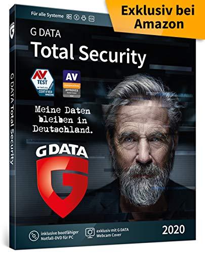G DATA Total Security 2020 | 3 Geräte - 1 Jahr | Trust in German Sicherheit | Rundumschutz Antivirus für Windows, Mac, Android, iOS | DVD-ROM