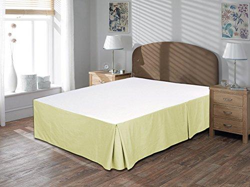 Komfort Bettwäsche 600tc 3Bettvolant 48,3cm Drop Länge Single Größe 100% ägyptische Baumwolle massiv, Elfenbeinfarben, Einzelbett (19 Zoll Bedskirt)