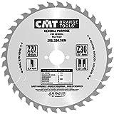CMT 291.220.36M Lama Circolare per Taglio Lungo e Traverso Vena per Macchine Portatili, Metallo/Grigio
