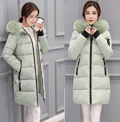 WanYang Cappotto Incappucciato Invernale Delle Donne Con Cappotto Invernale Lungo Rivestimento Classico Fagiolo Verde