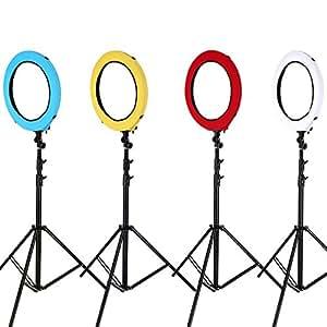 """Neewer® 4-Farben-Nylon Ring Blitz Video-Licht-Diffusor Set für Neewer 75W 18 """"Außen 14"""" Innenring Leuchtstoff Blitzlicht, bestehend aus: (1) Rote Diffusor + (1) Gelbe Diffusor + (1) Blaue Diffusor + (1) Weiße Diffusor"""