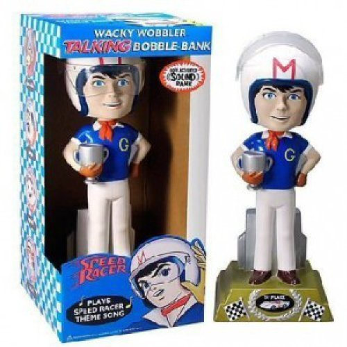 Speed Racer Bobble Bank 12-inch Talking Bobble Head