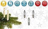 Hellum 919233 Ersatz-Riffelkerze für Lichterketten mit 20 Brennstellen/Innen- und Außenbeleuchtung/warmweiß/klar / E10 Sockel / 12 V / 2,5 W / 3 Stück