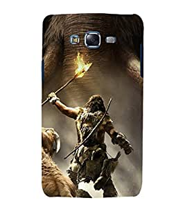 printtech Farcry Game Primal Look Back Case Cover for Samsung Galaxy Core 2 G355H