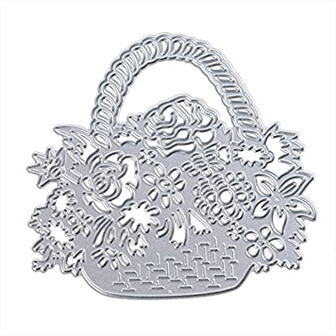 Covermason DIY Flora Home Decor Stencil Cutting Dies Metal Embossing For Album Scrapbooking Paper Card Art Craft (Baskets)