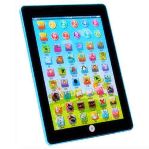 Preisvergleich Produktbild TOOGOO(R) Kinder Baby Tablet Pad Computer Lernspiel Bildung Spielzeug Buchstaben Geschenk , Blau