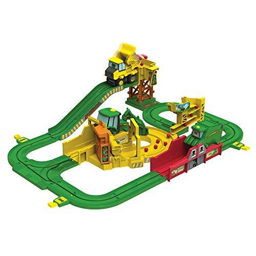 John Deere Johnny Tractor Big Loader Spielset - hochwertiges Kleinkind-Spielzeug -  Spielset mit Eisenbahn und Lok Batterielok - für Kinder ab 3 Jahren