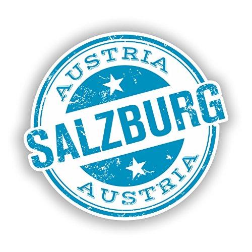 2x Salzburg Vinyl Aufkleber Reise Gepäck # 10603 - 10cm/100mm Wide (Professional Sound Machine)