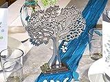 ZauberDeko Tischdeko Kommunion Konfirmation Petrol Blau Grau Baum des Lebens Set 20 Personen Fisch - 6