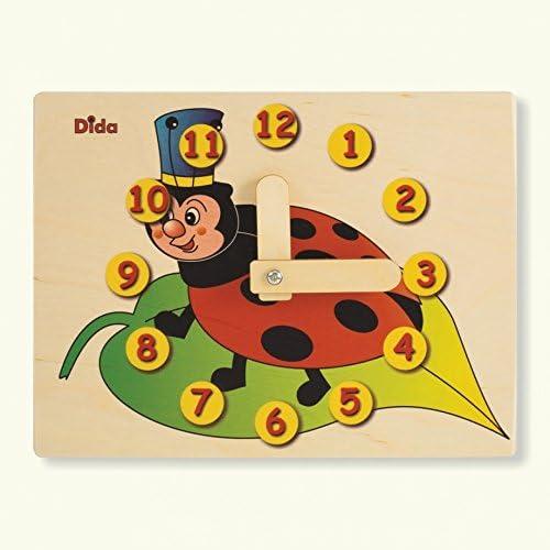 DIDA - Horloge éducative Coccinelle Coccinelle Coccinelle - Jouet en Bois pour Apprendre à Lire l'heure 9ea3eb