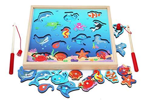 TOWO Juegos Pesca niños 3 años- Juego Pesca piezas