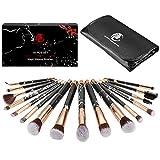 Pennelli Make Up gee-rgeous 16 pz Magic marmo sintetico premium professionale pennelli da trucco con polvere, correttore, ombretto, sopracciglia, eyeliner Kabukit set nero