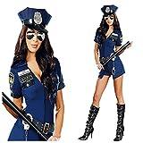 Damen Kostüm Polizistin Blau Polizei Kostüm Officer Gr. S 34-36