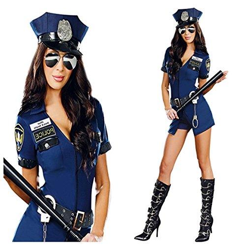 stin Blau Polizei Kostüm Officer Gr. S 34-36 (Kostüm Polizistin)