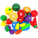 Education Toys,Fortan 1 Set Cutting Fruit Vegetable Pretend Play Children Kid Educational Toy