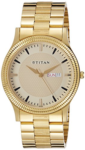 Titan Analog Gold Dial Men's Watch-NK1650YM04