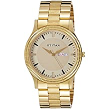 Titan Analog Gold Dial Men's Watch-1650YM04