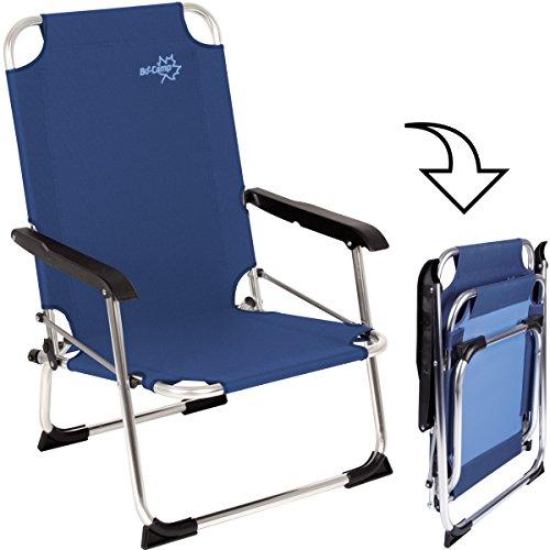 Blaue Strand-klapp-stühle (Bocamp-Holland Strand Klapp-Stuhl Copa Rio Alu blau, bis 100kg, 600D-Gewebe: Alu Klappstuhl Angler Camping Stuhl Gartenstuhl Angelstuhl Strandstuhl Faltstuhl)
