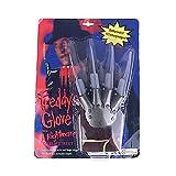 Leezo Freddy Krueger Guanti Wolverine Fantasma Artiglio Guanti Halloween in Maschera Show Uomo Puntelli