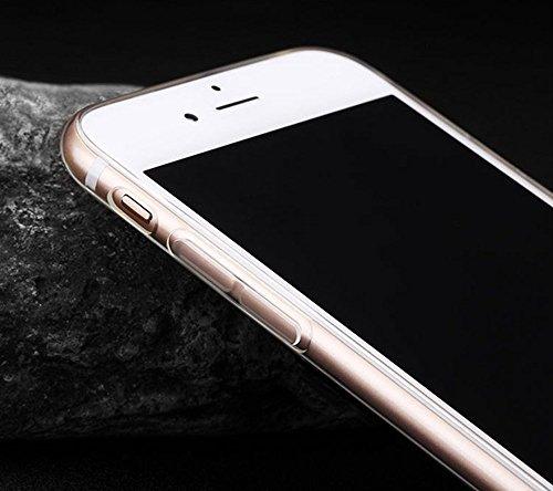 Incendemme weiche transparente Handyhülle Schutzschale Handytasche aus TPU mit Katze Muster phone case cover Hülle (für iPhone 7, 16) 18
