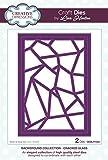 Lisa Horton Hintergrund Collection Geknackt Glas Craft sterben, Metall, silber, 23x 15,5x 0,8cm