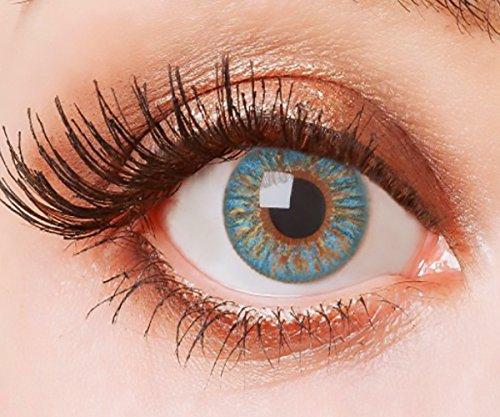 Farbige Kontaktlinsen Blau Ohne Stärke Weiche Natürliche Jahreslinsen Blaue Linsen Farblinsen 0 Dioptrien Sky Blue Himmelblau Hellblau