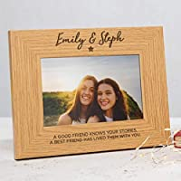 Personalised friends photo frame for women/Best friend gifts for women/friend quote photo frame gifts