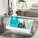 #5: Perfect Life Ideas Kitchen Sink Sponge Rack Holder Bathroom Storage Shampoo Toothbrush Razor Soap Shelf Rack Organizer With Suction Cup Seasoning Holder - (Random Color) 1pc